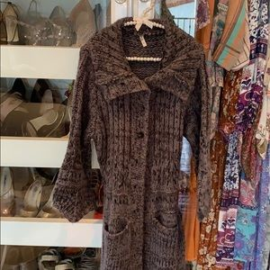 Spell designs sweater coat. Long one size